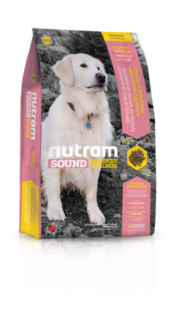 S10 Nutram Sound Senior Dog 3x13,6kg+DOPRAVA ZDARMA+1x Candies