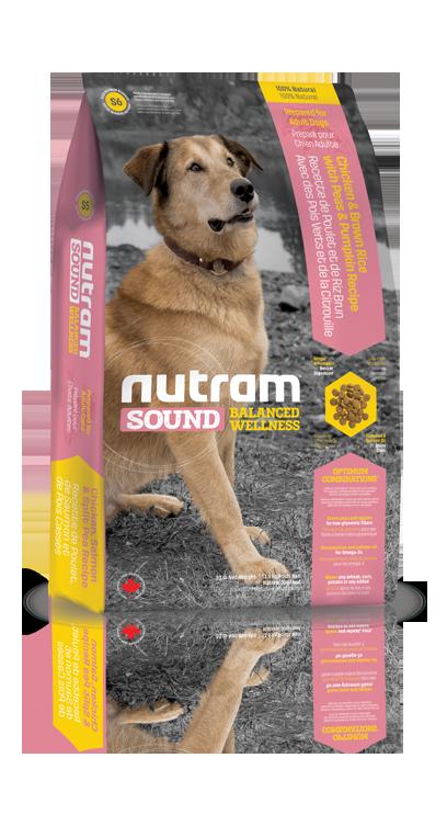S6 Nutram Sound Adult 3x13,6kg+1,2kg+DOPRAVA ZDARMA+Candies+Nutram dárek! (1,2kg zdarma navíc+SLEVA PO REGISTRACI / PŘIHLÁŠENÍ!)
