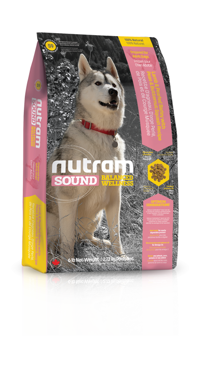 S9 Nutram Sound Adult Lamb Dog 2x13,6kg+DOPRAVA ZDARMA+1x Candies