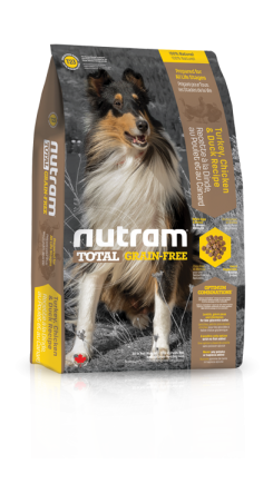 T23 Nutram Total Grain Free Turkey, Chicken, Duck Dog 3x13,6kg+DOPR.Z.+1xCANDIES