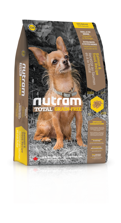 T28 Nutram Total Grain Free Small Breed Salmon Trout Dog 2x6,8kg+DOPRAVA ZDAR (+ 2% SLEVA PO REGISTRACI / PŘIHLÁŠENÍ!)