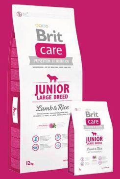 Brit Care Dog Junior Large Breed Lamb & Rice 12kg+DOPRAVA ZDARMA+SNACKS! (+ 2% SLEVA PO REGISTRACI / PŘIHLÁŠENÍ!)