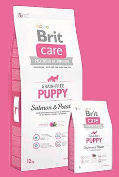 Brit Care Dog Grain-free Puppy Salmon & Potato 12kg+DOPRAVA ZDARMA+SNACKS! (+ 2% SLEVA PO REGISTRACI / PŘIHLÁŠENÍ!)