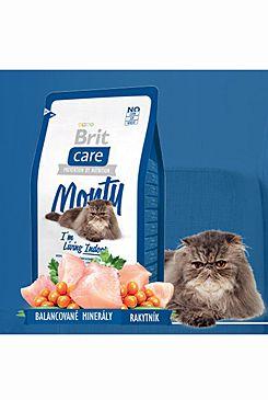 Brit Care Cat Monty I´m Living Indoor 7kg (+ 2% SLEVA PO REGISTRACI / PŘIHLÁŠENÍ!)