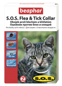 Beaphar Cat Obojek antiparazitní SOS cat 35 cm