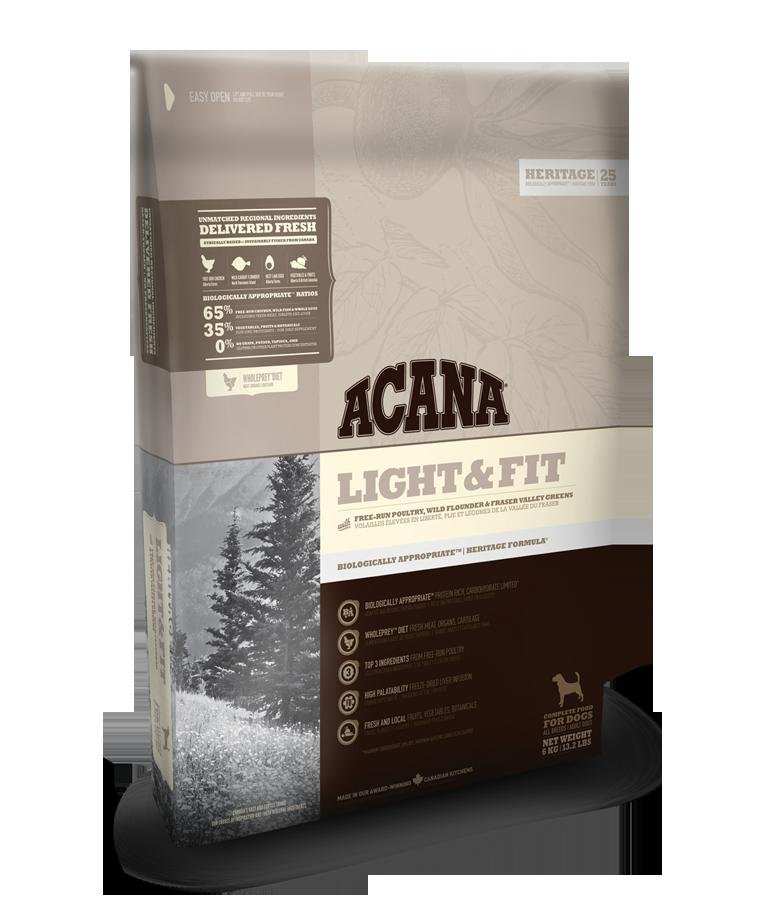 Acana dog Light & Fit Heritage 11,4 kg + DOPRAVA ZDARMA + Dental Snacks ZDARMA! (+ SLEVA PO REGISTRACI / PŘIHLÁŠENÍ!)