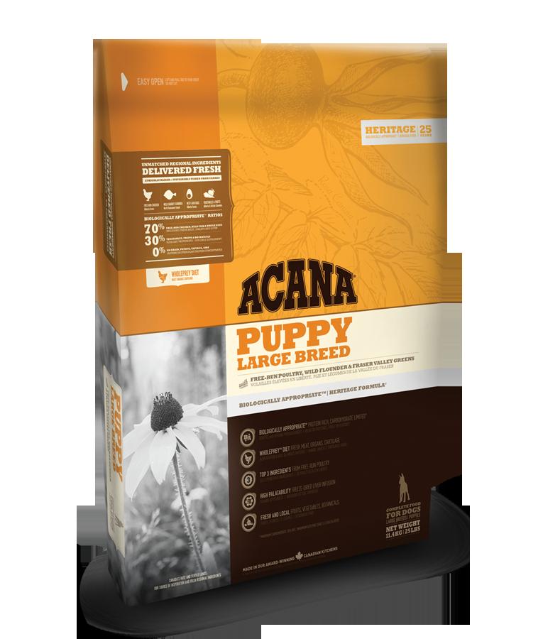 ACANA DOG Puppy Large Heritage Formula 17kg+DOPRAVA ZDARMA+Dental Snacks! (+ SLEVA PO REGISTRACI / PŘIHLÁŠENÍ!)