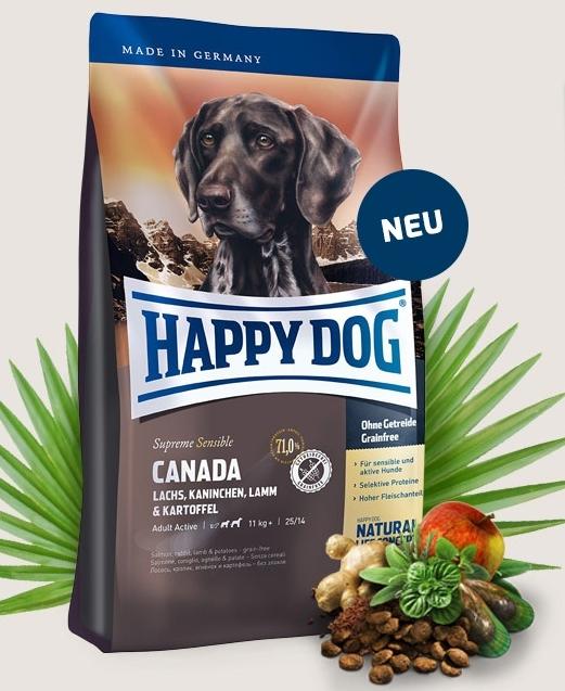 HAPPY DOG SUPREME Canada 12,5kg+SLEVA+Dental Snacks+DOPRAVA ZDARMA! (+ SLEVA PO REGISTRACI/PŘIHLÁŠENÍ! ;))