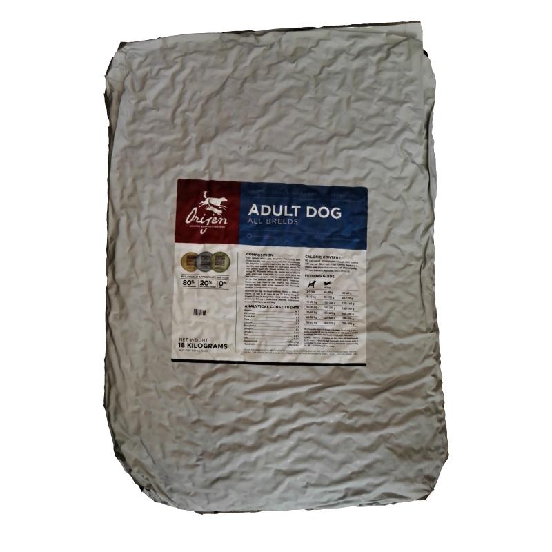 ORIJEN Dog Adult 18 kg + DOPRAVA ZDARMA + Dental Snacks ZDARMA! (+ 2% SLEVA PO REGISTRACI / PŘIHLÁŠENÍ!)
