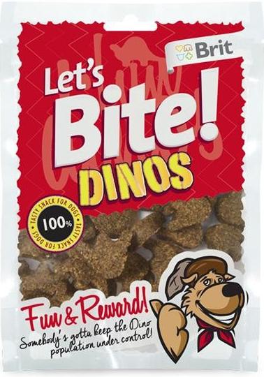 Brit Let´s Bite Dinos 150 g (-dinosauří tlapky s jehněčí příchutí)
