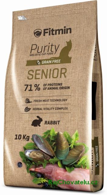 Fitmin Cat Purity Senior 10kg + 2x myška zdarma + DOPRAVA ZDARMA! (+SLEVA PO REGISTRACI/PŘIHLÁŠENÍ)