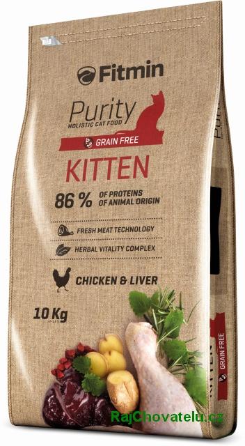 Fitmin Cat Purity Kitten 10kg + 2x myška zdarma + DOPRAVA ZDARMA! (+SLEVA PO REGISTRACI/PŘIHLÁŠENÍ)