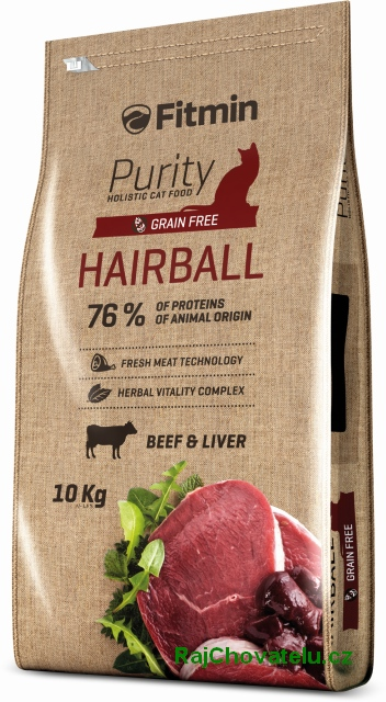 Fitmin Cat Purity Hairball 10kg + 2x myška zdarma + DOPRAVA ZDARMA! (+SLEVA PO REGISTRACI/PŘIHLÁŠENÍ)