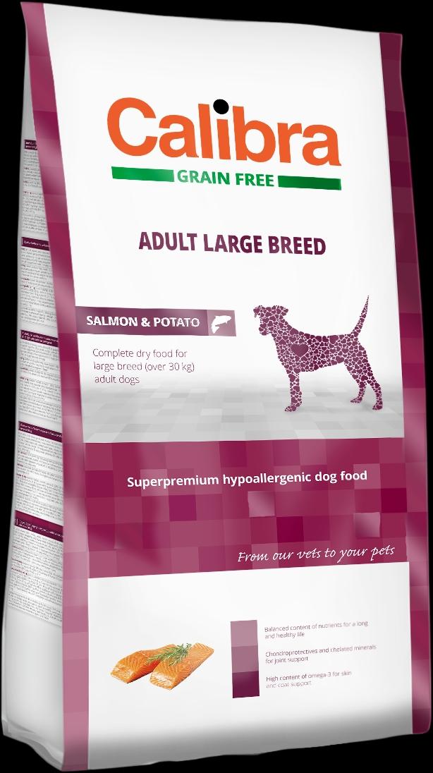 Calibra Dog GF Adult Large Breed Salmon 2kg NEW (+SLEVA PO REGISTRACI/PŘIHLÁŠENÍ)