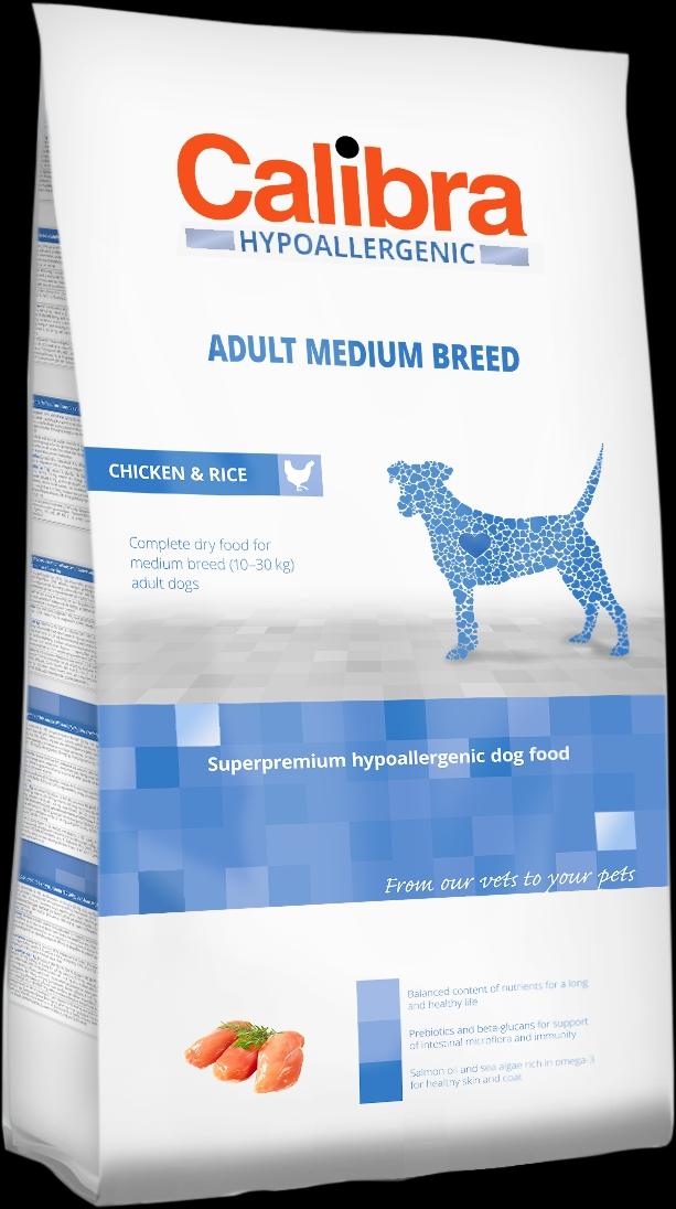 Calibra Dog HA Adult Medium Breed Chicken 3kg NEW (+SLEVA PO REGISTRACI/PŘIHLÁŠENÍ)