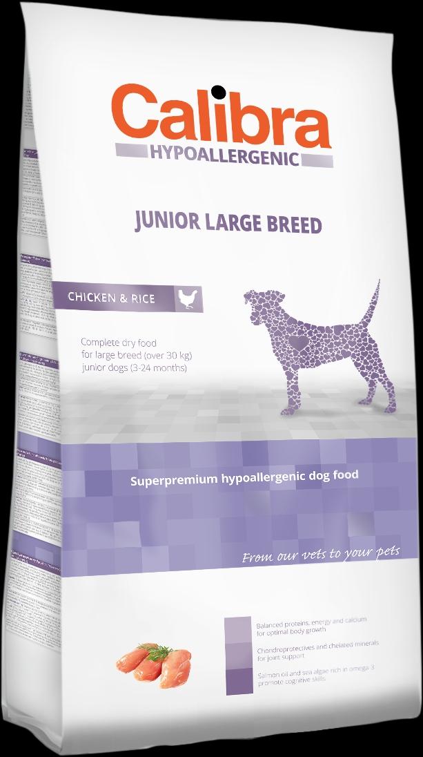 Calibra Dog HA Junior Large Breed Chicken 3kg NEW (+SLEVA PO REGISTRACI/PŘIHLÁŠENÍ)