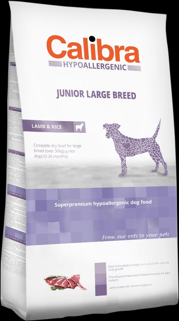Calibra Dog HA Junior Large Breed Lamb 3kg NEW (+SLEVA PO REGISTRACI/PŘIHLÁŠENÍ)