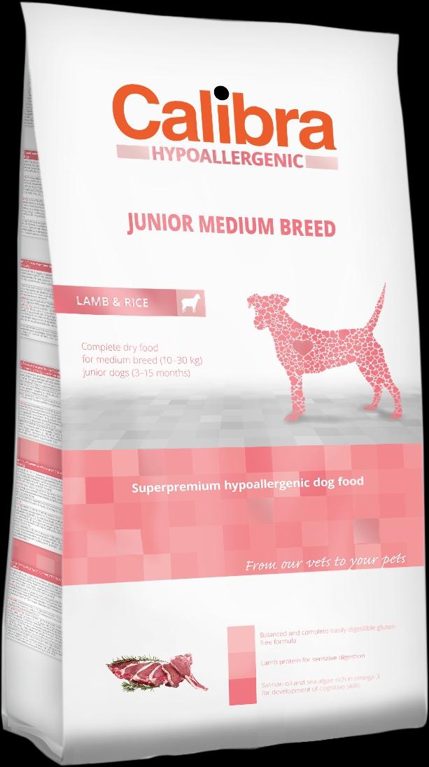 Calibra Dog HA Junior Medium Breed Lamb 3kg NEW (+SLEVA PO REGISTRACI/PŘIHLÁŠENÍ)