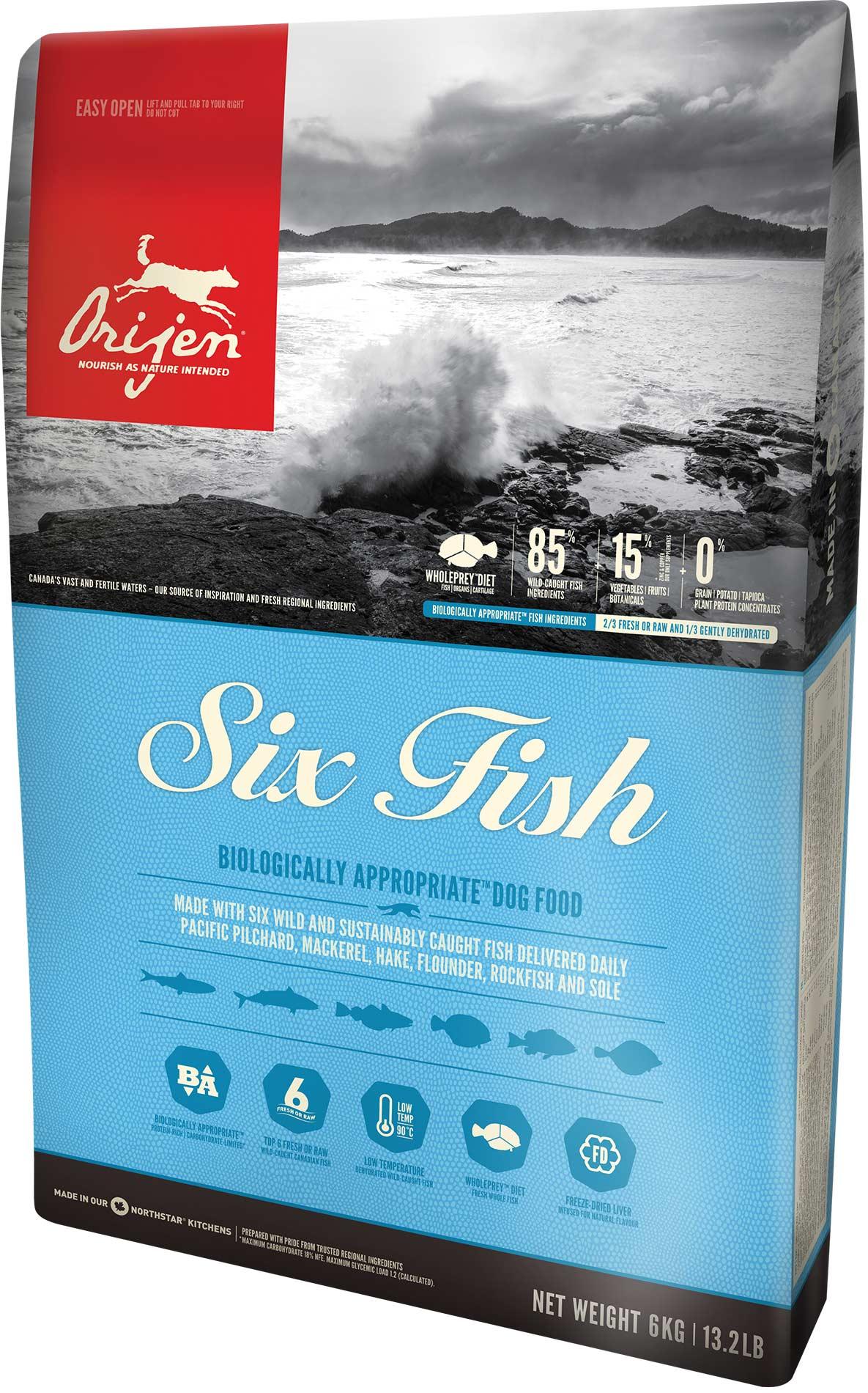 ORIJEN Dog 6 Fisch 2 x 11,4 kg