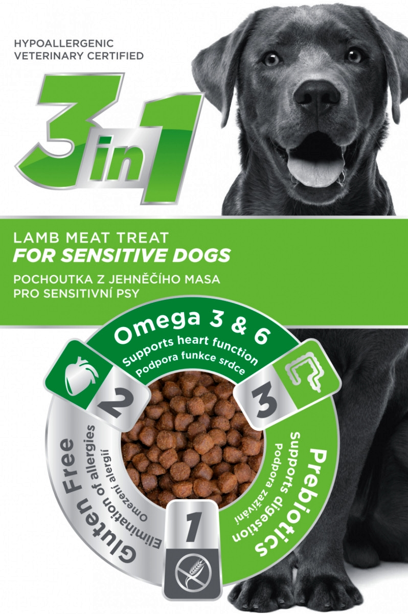 3in1 Dog Sensitive jehněčí 100g