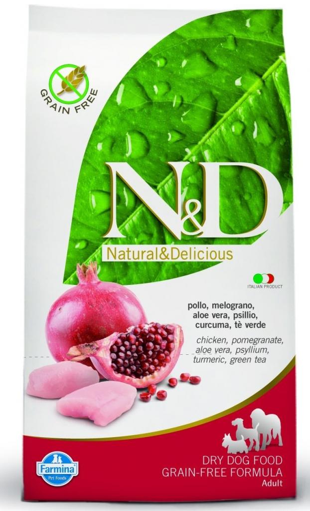 N&D Grain Free Chicken & Pomegranate Adult 12kg+DOPRAVA ZDARMA+Dental Snacks (+2% SLEVA PO REGISTRACI/PŘIHLÁŠENÍ!)
