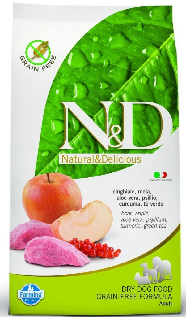 N&D Grain Free Boar & Apple Adult 12kg+DOPRAVA ZDARMA+Dental Snacks ZDARMA! (+2% SLEVA PO REGISTRACI/PŘIHLÁŠENÍ!)