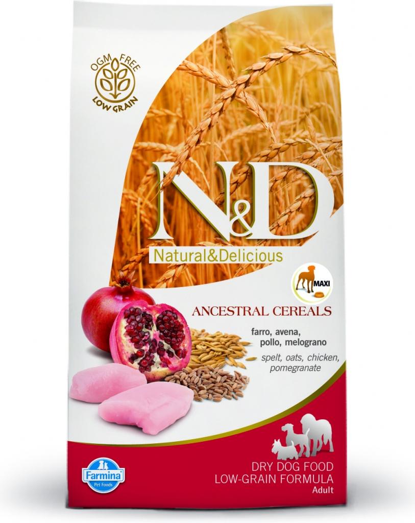 N&D Low Grain Chicken & Pomegranate Maxi Adult 12kg+DOPRAVA ZDARMA+Snacks! (+2% SLEVA PO REGISTRACI/PŘIHLÁŠENÍ!)