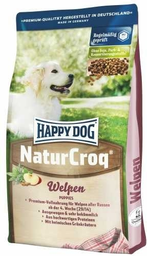 happy dog happy dog naturcroq welpen 15kg doprava zdarma dental snacks granule fitmin k 9. Black Bedroom Furniture Sets. Home Design Ideas