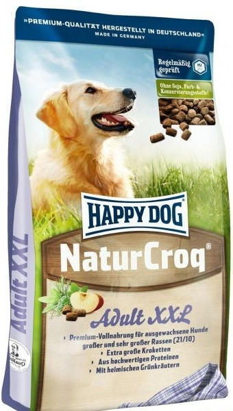 HAPPY DOG NaturCroq XXL 15kg + DOPRAVA ZDARMA+Dental Snacks! (+ SLEVA PO REGISTRACI/PŘIHLÁŠENÍ! ;))