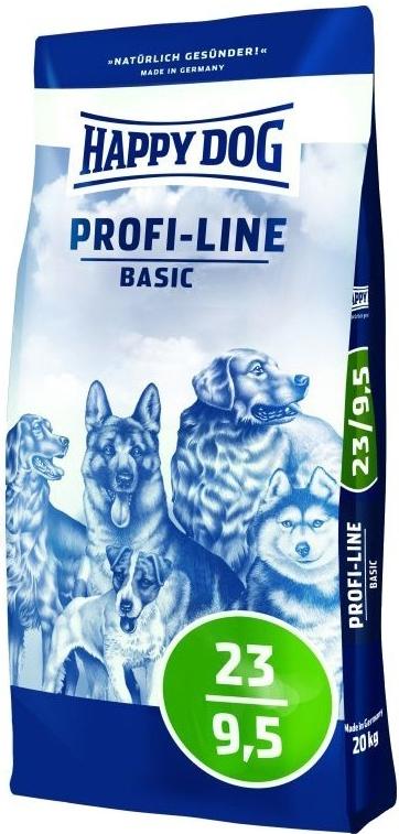 HAPPY DOG PROFI-LINE 23/9,5 Basic 20kg+SLEVA+Dental Snacks+DOPRAVA ZDARMA! (+ SLEVA PO REGISTRACI/PŘIHLÁŠENÍ! ;))