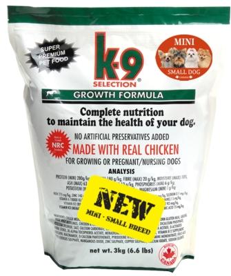 K-9 Selection Growth Small Breed 3 kg+ K9 DÁREK NA VÝBĚR (+ 2% sleva po registraci/přihlášení + K9 DÁREK DLE VÝBĚRU!)