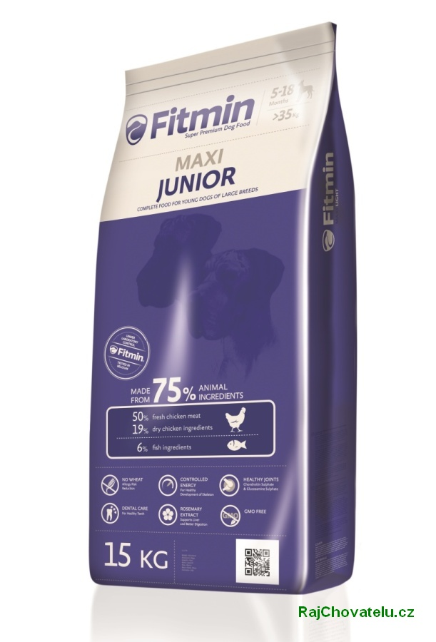 Fitmin Dog maxi Junior 3 x 15 kg new