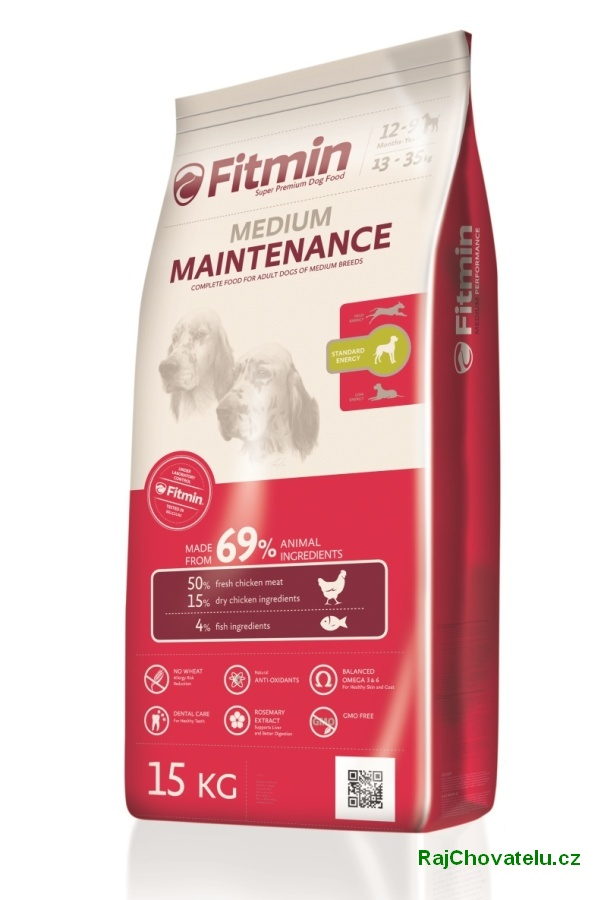 Fitmin dog Medium Maintenance 15 kg + Fitmin SNAX + DOPRAVA ZDARMA!