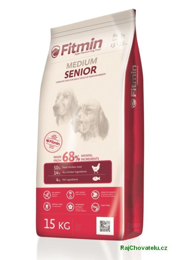 Fitmin dog medium senior 3 kg NOVÝ (+ 2% SLEVA PO REGISTRACI / PŘIHLÁŠENÍ!)