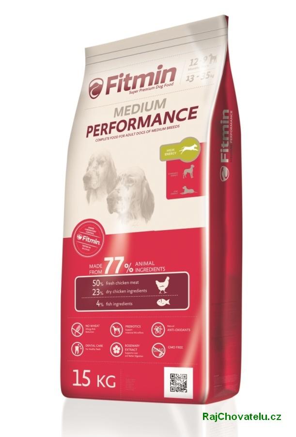 Fitmin dog medium performance 3 kg NOVÝ (+ 2% SLEVA PO REGISTRACI / PŘIHLÁŠENÍ!)