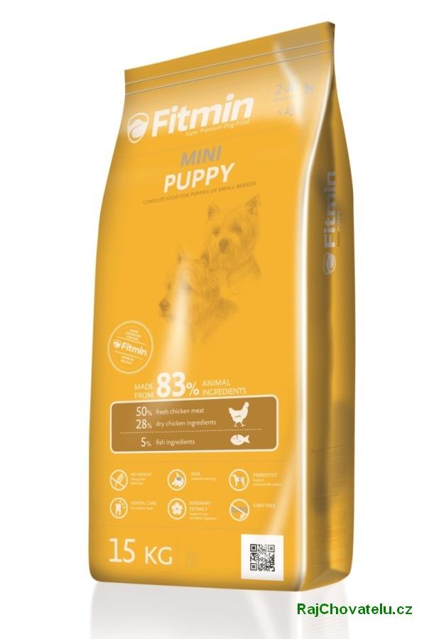 Fitmin dog mini puppy 3 kg NOVÝ (+ 2% SLEVA PO REGISTRACI / PŘIHLÁŠENÍ!)