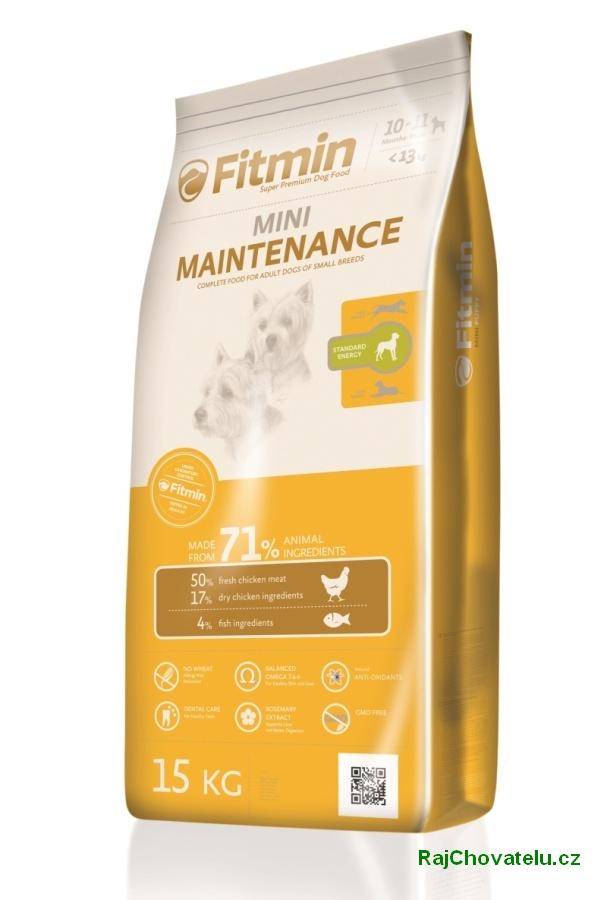 Fitmin dog mini maintenance 1.5 kg NOVÝ (+ 2% SLEVA PO REGISTRACI / PŘIHLÁŠENÍ!)