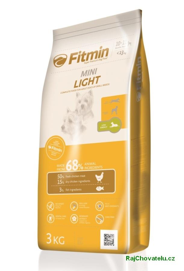 Fitmin dog mini light 2x3 kg NOVÝ (+ 2% SLEVA PO REGISTRACI / PŘIHLÁŠENÍ!)