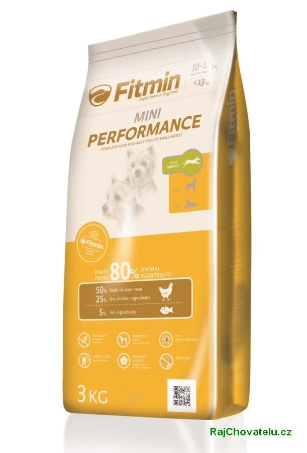 Fitmin dog mini performance 3 kg NOVÝ (+ 2% SLEVA PO REGISTRACI / PŘIHLÁŠENÍ!)