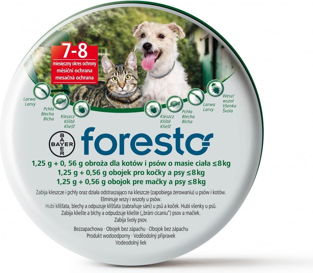 Bayer Foresto 38cm - antiparazitní obojek pro psy do 8kg