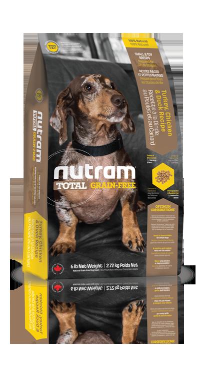 T27 Nutram Total Grain Free Small Breed Turkey, Chicken, Duck Dog 2,72kg (+ 2% SLEVA PO REGISTRACI / PŘIHLÁŠENÍ!)
