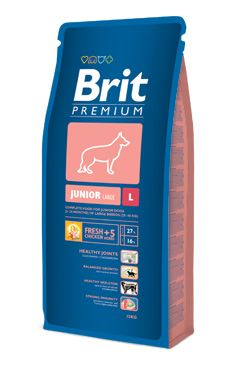 Brit premium dog junior L 15kg + DENTAL SNACKS ZDARMA!!!