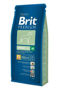 Brit premium dog junior XL 15kg + DENTAL SNACKS ZDARMA!!!