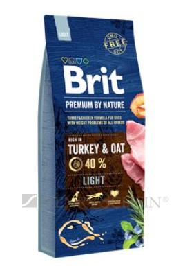 Brit Premium Dog by Nature Light 15 kg + DOPRAVA ZDARMA!