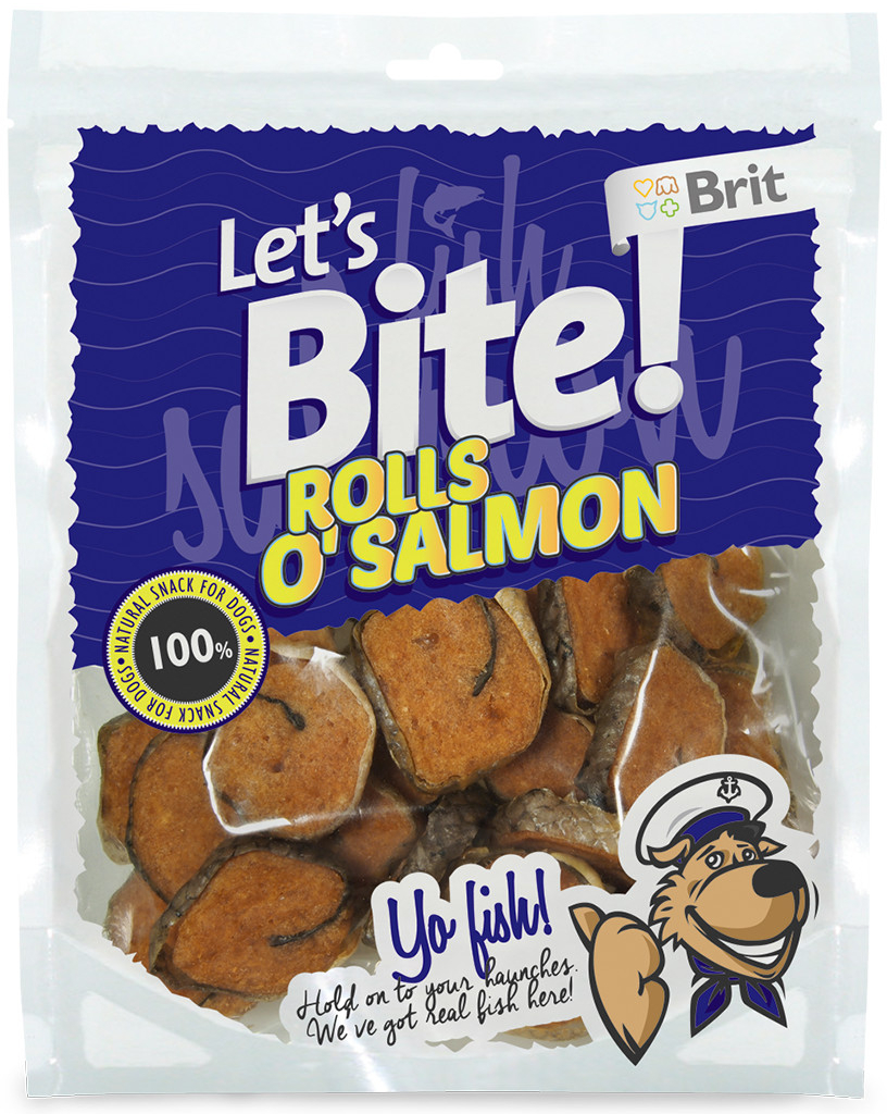 Brit Let´s Bite Rolls o'Salmon 80 g
