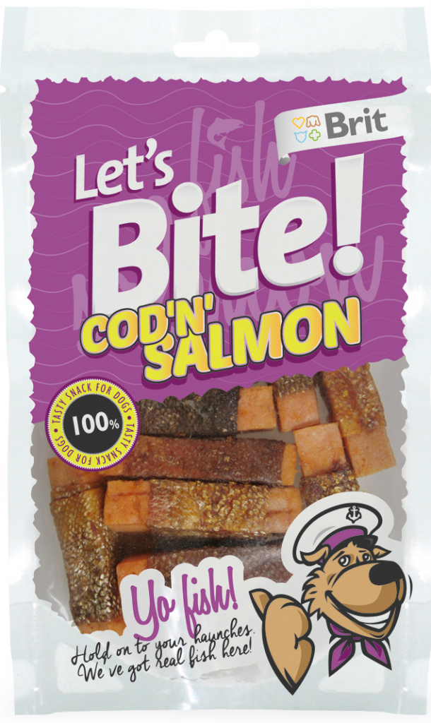 Brit Let´s Bite Cod'n'Salmon 80 g