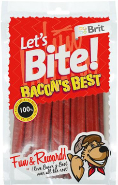 Brit Let´s Bite Bacon's Best 105 g
