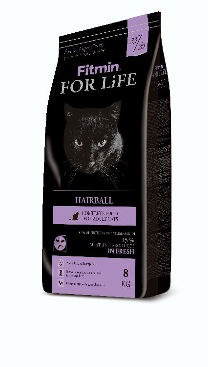 Fitmin Cat For Life Hairball 8kg + DOPRAVA ZDARMA!