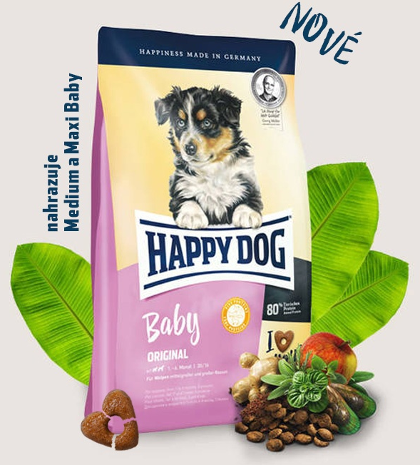 HAPPY DOG Baby Original 10kg + DOPRAVA ZDARMA+Dental Snacks!