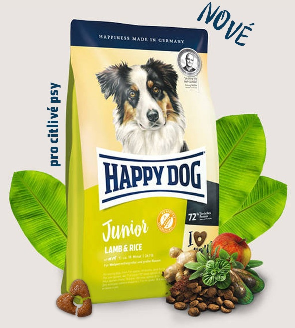 HAPPY DOG Junior Lamb & Rice 10kg + DOPRAVA ZDARMA+Dental Snacks!
